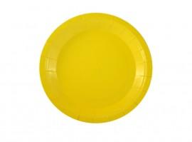 Talerz papierowy żółty 18cm (6szt)