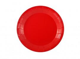 Talerz papierowy czerwony 18cm (6szt)