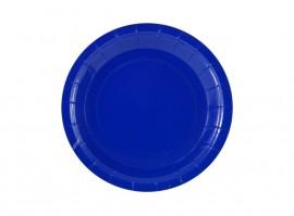 Talerz papierowy niebieski 18cm (6szt)