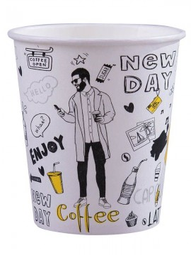 Kubek papierowy 200/250ml NEW DAY (100szt)
