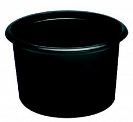 Pojemnik PP okrągły czarny 350ml (50szt)