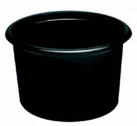 Pojemnik PP okrągły czarny 450ml (50szt)