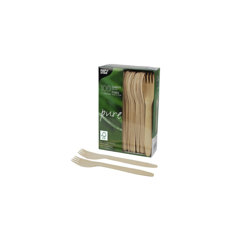 Widelce drewniane 16,5cm PAPSTAR (100szt)