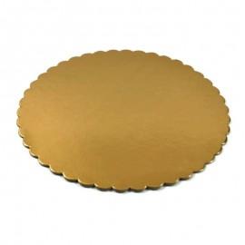 Podkłady tortowe okrągłe złote 24cm (1szt)