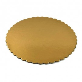 Podkłady tortowe okrągłe złote 21cm (1szt)