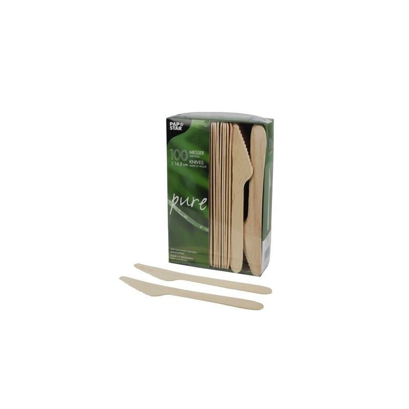 Noże drewniane 16,5cm PAPSTAR (100szt)