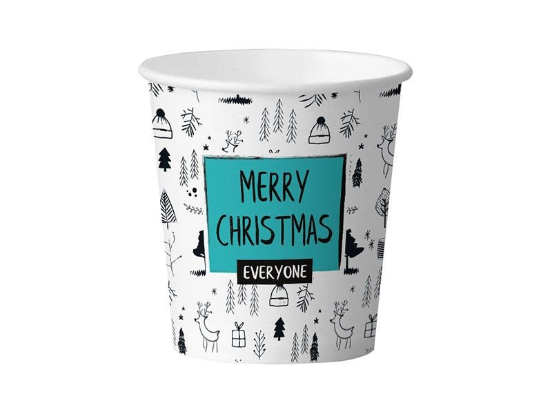 Kubek papierowy 300ml Merry Christmas (50szt)