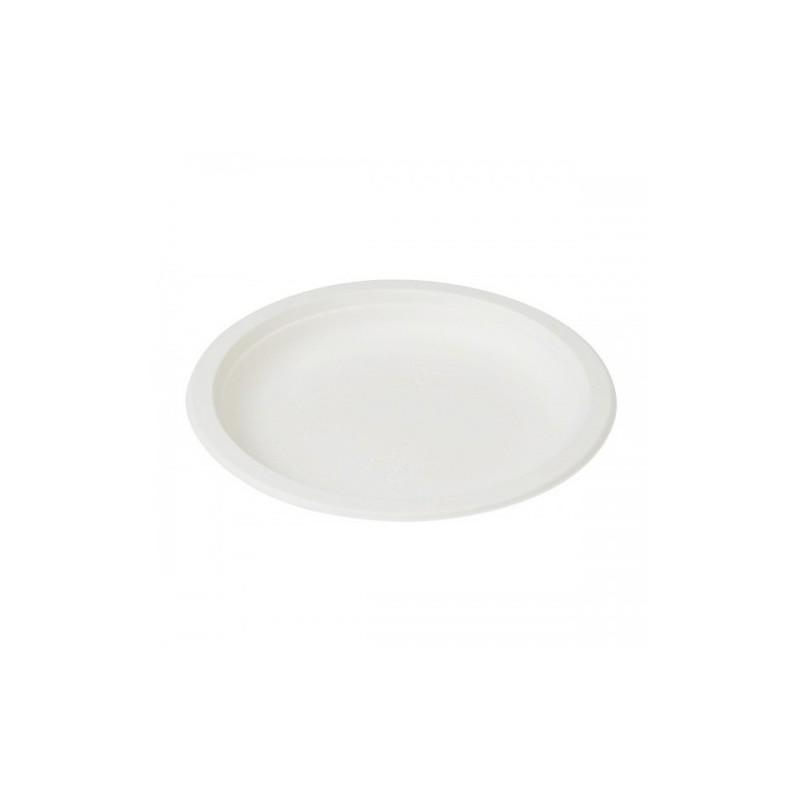 Talerz owalny 32x25,5cm biały Abena (50szt)