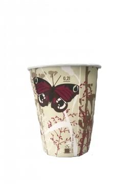 Kubek papierowy Butterfly 250ml (50szt)