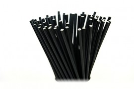 Słomki papierowe 8x205 czarne (100szt)