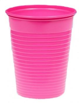 Kubek plastikowy 200ml fuksja (100szt)