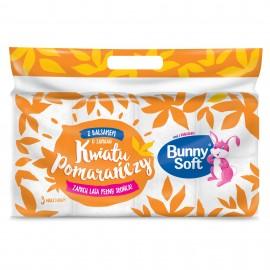 Papier toaletowy Bunny Soft biały kwiat pomarańczy 3-w (8rolki)