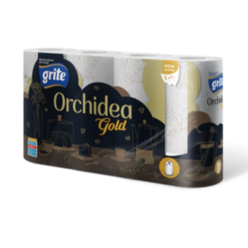 Papier toaletowy Grite Orchidea Gold biały (8 rolek)