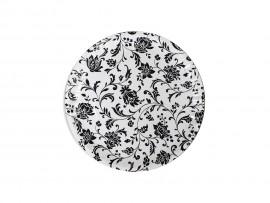 Talerze papierowe czarne kwiaty 18cm (100 szt)