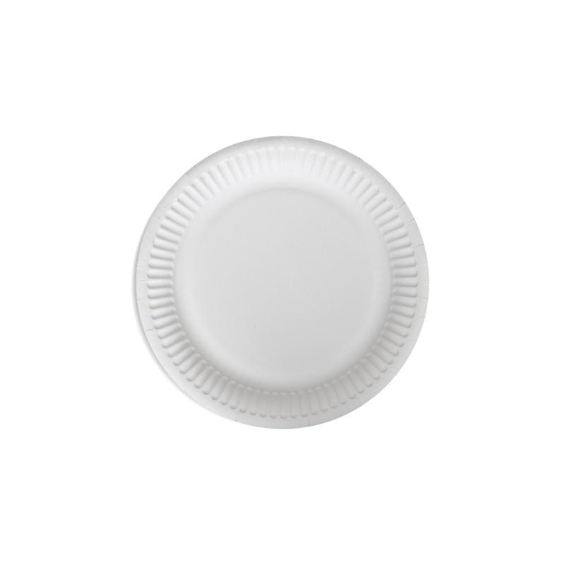 Talerz papierowy biały 15cm (100 szt)