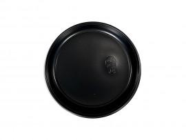 Talerz plastikowy czarny 17 cm (100 szt)