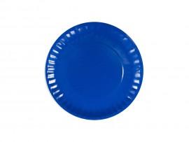 Talerz papierowy niebieski 18cm (24 szt)