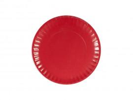 Talerz papierowy czerwony 23cm (24 szt)