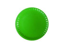 Talerz papierowy zielony 23cm (24 szt)
