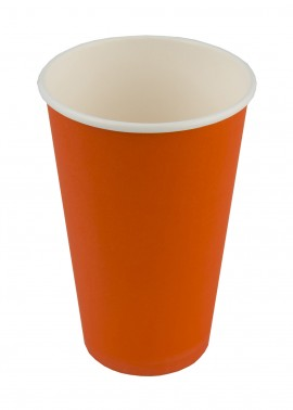 Kubek papierowy 400ml (50szt) Pomarańczowy