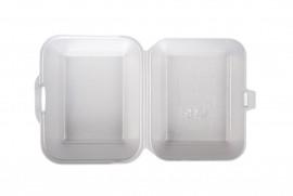 Box hamburger podwójny biały (125 szt)