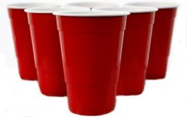 Kubki PS Party czerwone amerykańskie 473ml (50szt.)