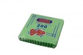Serwetki ząbkowane zielone SABA(200szt)