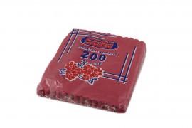 Serwetki ząbkowane czerwone SABA(200szt)