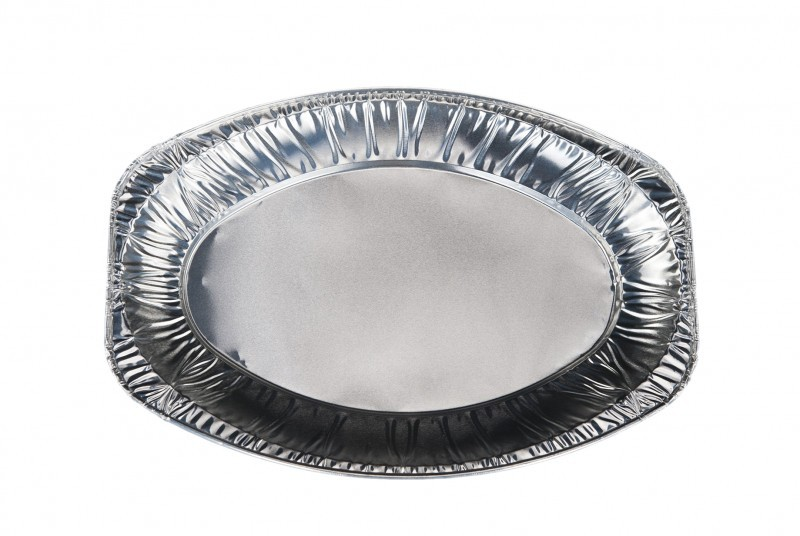 Patera aluminiowa srebrna