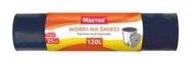 Worki na odpady czarne 120L mocne (25szt)