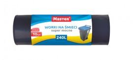Worki na odpady czarne 240L mocne (10szt)