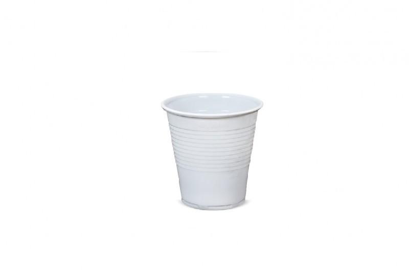 Kubek plastikowy biały 80ml (100szt.)
