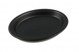 Talerz plastikowy owalny 26cm czarny (100szt)