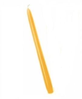 Świeca prosta lakierowana żółta 21cm (12szt)