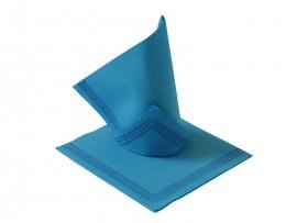 Serwetka flizelinowa niebieska z paskami 38x38 (50szt)