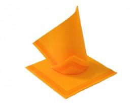 Serwetka flizelinowa pomarańczowa z paskami 38x38 (50szt)