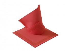 Serwetka flizelinowa czerwona z paskami 38x38 (50szt)