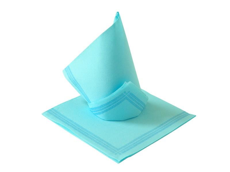 Serwetka flizelinowa błękitna z paskami 38x38 (50szt)