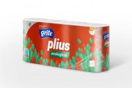 Papier toaletowy Grite Plius ekologiczny (8 rolek)