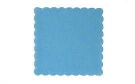 Serwetki gastronomiczne ząbkowane niebieskie 15x15 (120szt)
