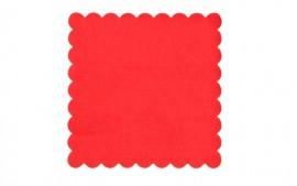 rwetki gastronomiczne ząbkowane czerwone 15x15 (120szt)
