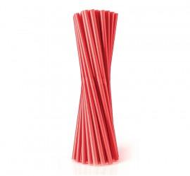 Słomka plastikowa czerwona SHAKE (500szt)