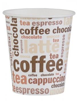 Kubek papierowy 200/250ml coffee&tea (100szt)