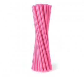 Słomka plastikowa różowa SHAKE (500szt)