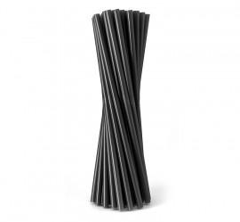 Słomka plastikowa czarna Shake (500szt)