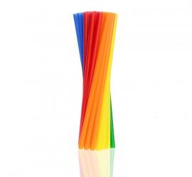 Słomka plastikowa kolorowa SHAKE (500szt)